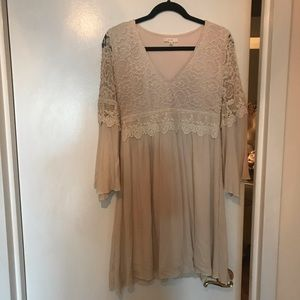 Easel ivory lace dress
